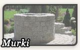 Kamienne murki ogrodowe